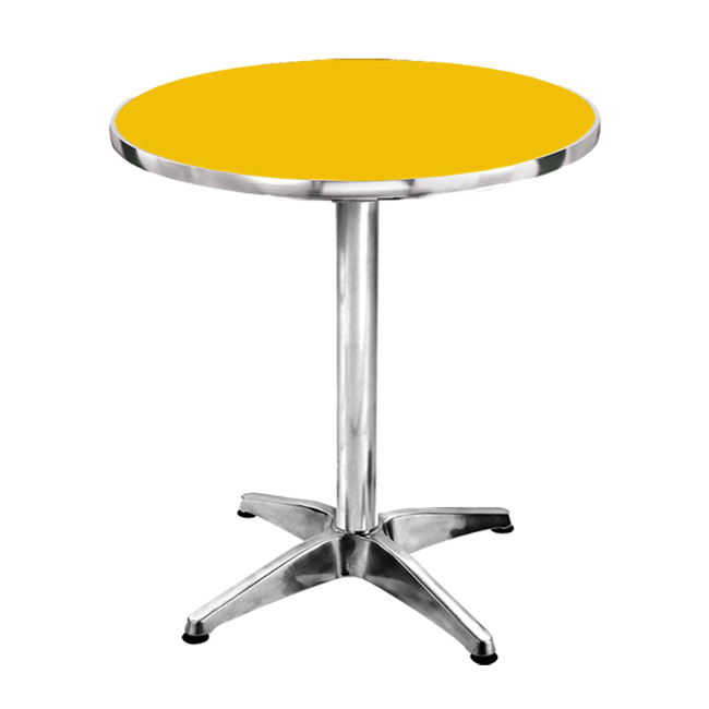 Sumo At 60r Yel Top Aluminum Round Pantry Table Cost U Less